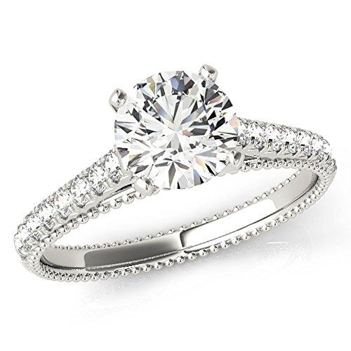 Scintilenora GIA Certified Diamond Engagement Ring 18k Gold 1 3/4 TDW