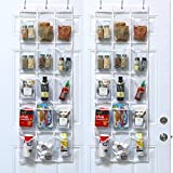 2 Pack - SimpleHouseware Crystal Clear Over the Door Hanging Pantry Organizer (52'' x 18'')