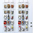 """2 Pack - SimpleHouseware Crystal Clear Over the Door Hanging Pantry Organizer (52"""" x 19"""")"""