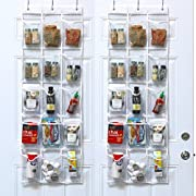 2 Pack - SimpleHouseware Crystal Clear Over the Door Hanging Pantry Organizer (52  x 18 )
