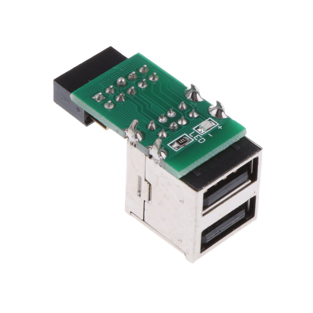9pin to Dual Port USB 2.0 Female Header Adapter-Dual Layer Expansion Card