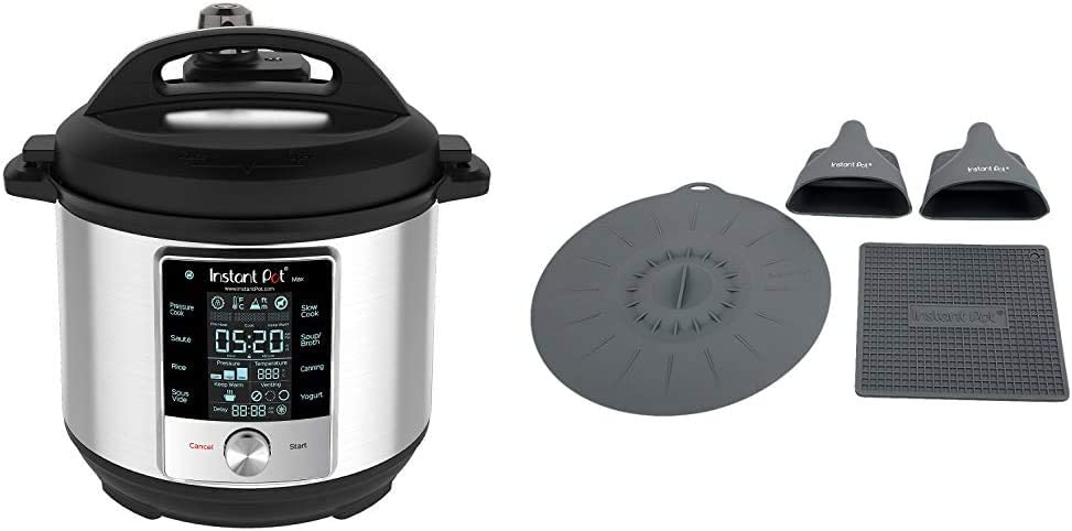 Instant Pot Max Pressure Cooker 9 in 1, Best for Canning with 15PSI and Sterilizer, 6 Qt & Silicone Starter Set
