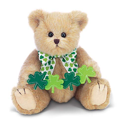Bearington Conner Clovers Irish Plush Stuffed Animal Teddy Bear, 10