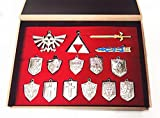 Legend of Zelda Shield Sword Blade Weapon Necklace 14 Pcs One Set