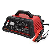 Automotive Battery Charger Best Deals - Potek 2/10/20 Amp Smart Battery Charger and Maintainer with 50-Amp Battery Clips
