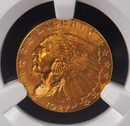 1927 P $2.5 Indian Head Gold (Pre-1933) MS 64+ NGC & CAC