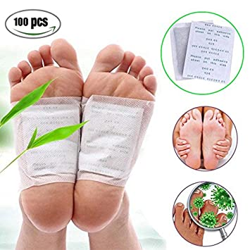 10 Pcs Detox Foot Patches Body Toxins Feet Slimming Cleansing Feet Care Medical Plaster Pads Herbal Adhesive Detoxify Slim Foot Care Tool Skin Care Tools