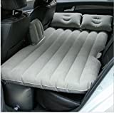 truck sleeping bed - Silver Gray Car Mattress, FOME SPORTS|OUTDOORS Foldable Car Mattress Car Travel Inflatable Mattress Air Bed Camping Universal SUV Back Seat Couch and Mid-size Trucks Outdoor Travel with Pillows