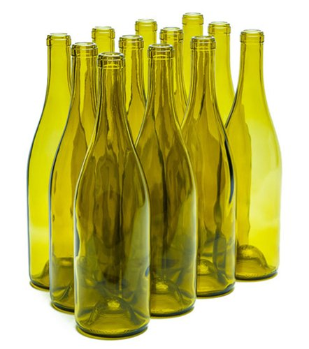 750 ML Dead Leaf Burgundy Bottles-Punted (12/Case)
