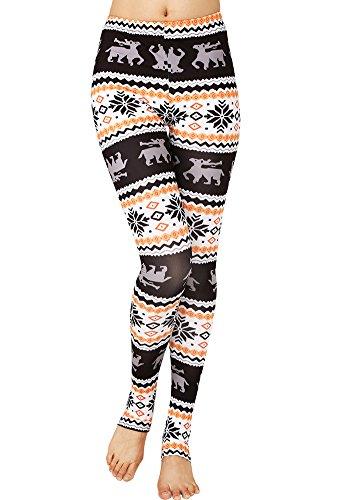 Aztec Costume Uk (CinGr8 Women's Costume 3D Printed Leggings Foot Stirrups Stretchy Yoga Pants)