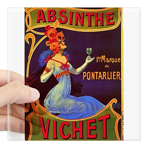 CafePress - Absinthe Poster Vintage French Ad - Square Bumper Sticker Car Decal, 3