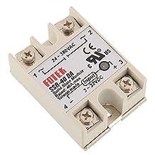 GEREE Solid State Relay SSR-40DA 40A/250V 3-32VDC/24-380VAC (40A)