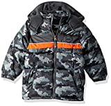 iXtreme Baby Boys Infant Camo Puffer W/Rubber Patch, Black, 18M