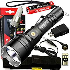 Meet the upgraded XT12GT! This extreme tactical flashlight has a maximum output of 1600 lumens and a 603m beam throw! The XT12GT has a dual-tactical tail switch design and features 4 brightness levels and 2 specialty modes. The XT12GT feature...