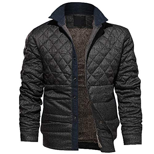 Allywit Men Coat Clearance Outdoor Warm Winter Jacket Casual Thick Jacket Outwear by Allywit (Image #8)