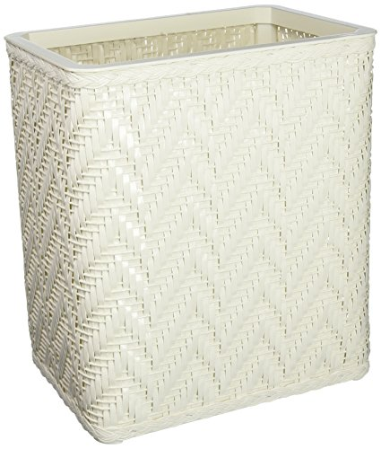 UPC 027061923048, Elegante Collection Decorator Color Wicker Wastebasket S423WH