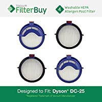4 - Dyson DC25 (DC-25) Post HEPA Replacement Filters, Part # 916188-05. Designed by FilterBuy to fit Dyson DC-25 Ball Upright Vacuums