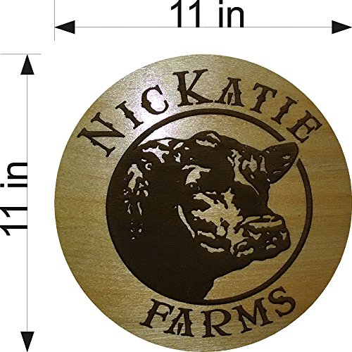 ANGUS COW CATTLE RANCH LASER ENGRAVED WOOD SIGN CUSTOM MADE WITH YOUR FARM NAME