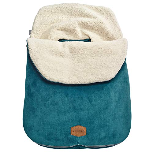 JJ Cole - Original Bundleme, Canopy Style Bunting Bag to Protect Baby from Cold and Winter Weather in Car Seats and Strollers, Teal, Infant