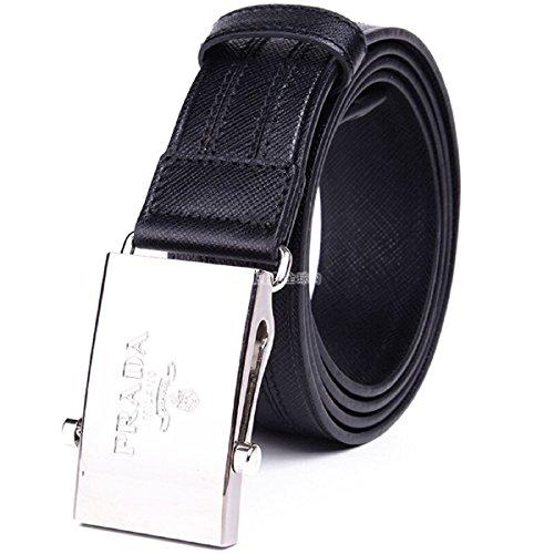 (Prada Men's Black Saffiano 1 Belt 2CM009 Size: 100/40)