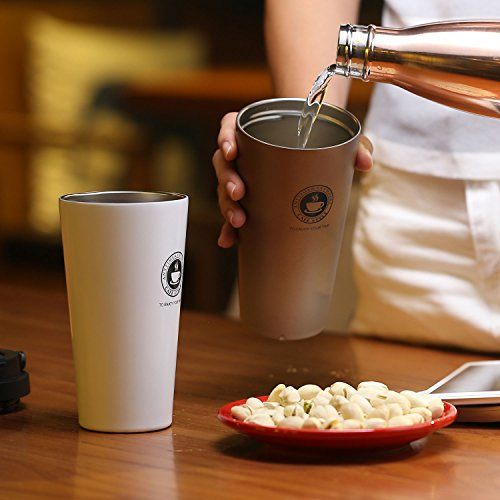 Home / portable Stainless Steel Coffee Mug Insulation / cold Beer Cup acuum Insulated Double-Walled 18/8 Stainless Steel Hydro Travel Mug Coffee color 17OZ (500ml) by SEPT MIRACLE (Image #6)