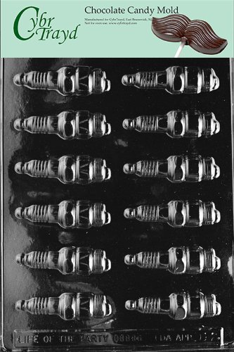 Cybrtrayd Life of the Party D012 Spark Plugs Automobile Car Engine Fathers Day Chocolate Candy Mold in Sealed Protective Poly Bag Imprinted with Copyrighted Cybrtrayd Molding Instructions ,