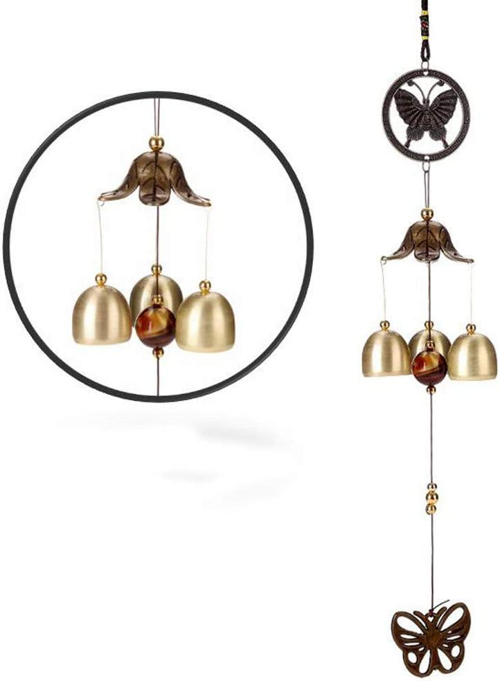 F Bells Wind Chimes Xinantime Great Sound Bronze Color Bells Wind Chimes for Yard Garden Outdoors Home Room Decor Hanging Ornament Gift