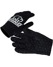 Rhino Unisex's Pro Full Finger Rugby Glove, Black, S/M