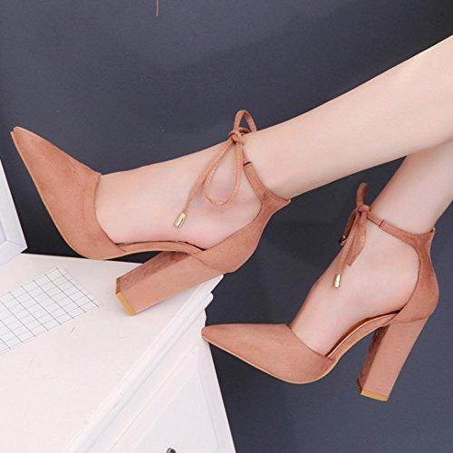 Khaki Pumps Damen Damen High Schuhe Sommer Heels Sandalen OverDose Damen Schuhe 6qxYOOI