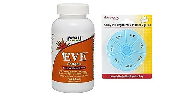 Amazon.com: Ahora alimentos Eva, Multi vitamina, cápsulas, 180-Conde mujer con gratis 7 días plástico píldora organizadores: Health & Personal Care