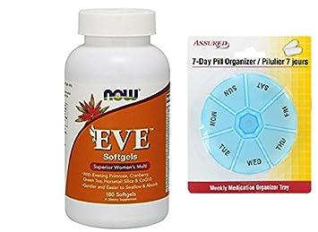 Ahora alimentos Eva, Multi vitamina, cápsulas, 180-Conde mujer con gratis 7