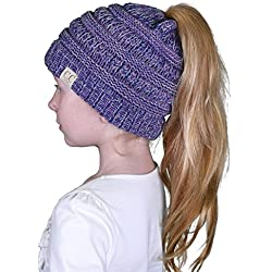 BT2-3847-816.40 Four Color Children's Beanie Tails: Purple #2