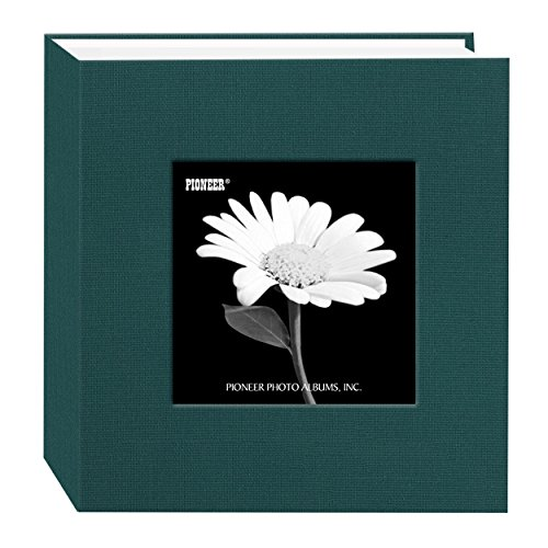 Pioneer 100 Pocket Fabric Frame Cover Photo Album, Majestic Teal by Pioneer Photo Albums