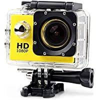 Yellow HD Sport Action Camera, Waterproof