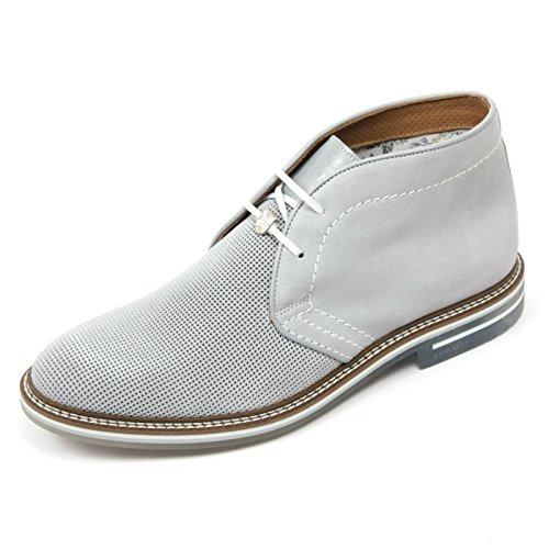 C2394 polacchino uomo BRIMARTS scarpa grigio chiaro fondo gomma shoe boot man [45]