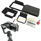 gouduoduo2018 GoPro hero 5 Adapter switch mount plate + Camera Sun Shade for DJI osmo mobile gimbal Zhiyun Z1-Smooth 3 axis handheld accessories