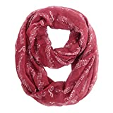 MissShorthair Music Note Print Infinity Scarfs for Women