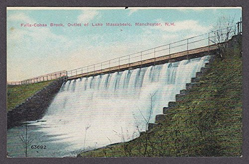 Falls-Cohas Brook Outlet of Lake Massabesic Manchester NH postcard - Outlets Nh