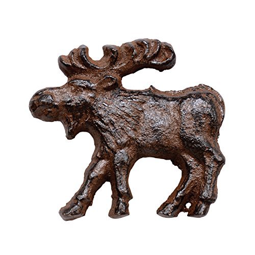 Cast Iron Rust Moose Knob ()