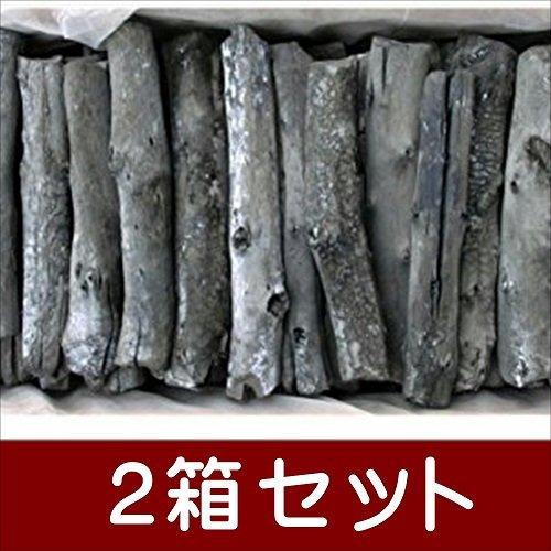 備長炭 炭 木炭 バーベキュー ラオス備長炭丸L4-15kg 2箱セット 爆ぜの少ない高品質なマイチュー炭 B074T9GPJJ