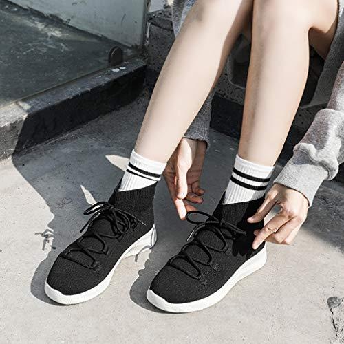 Novità Nero Donna Elastici Alti Maglia Calzettoni Sneakers Da Scarpe Casual Training Cross E A Beige Fitness Lavorate Piatte Yan wTtEH8xqx