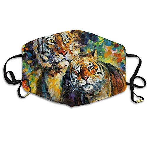 uZQKWFThLX Tiger Oil Painting Anti-Pollution Flu Masks Mouth Face Mask ()