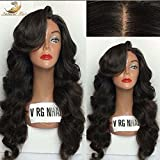 Dream Beauty 130%Density Body Wave New Style Glueless Silk Top Full Lace Wigs 8A Unprocessed Brazilian Virgin Human Hair With Baby Hairs (16'', full lace wigs)