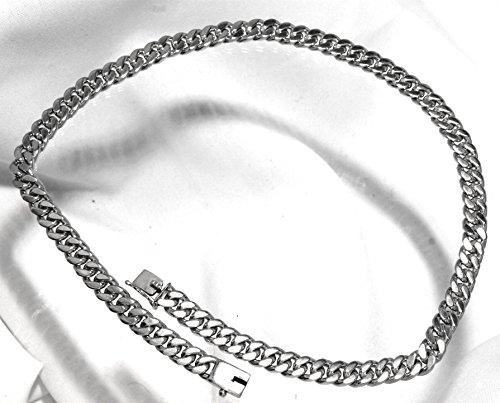 MPyramid Chaîne maille en argent sterling 925, env. 9mm de largeur, env. 50cm de long