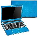 "Decalrus - Acer Aspire V5-431 , V5-471 with 14"" screen LITE BLUE Texture Carbon Fiber skin skins decal for case cover wrap CFacerV5-431LiteBlue"