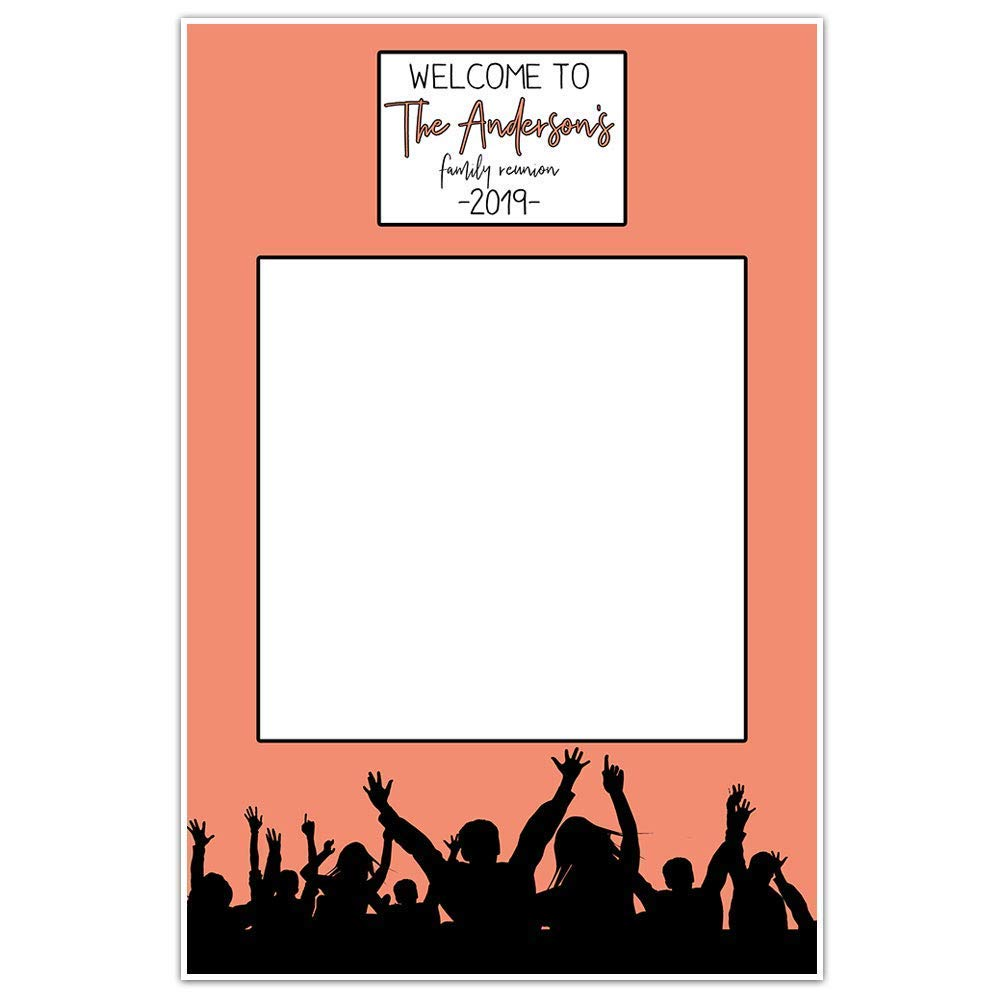 Family Reunion Party Personalized Selfie Frame Poster