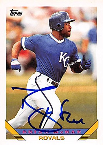 Brian Mcrae Autographed Baseball Card Kansas City Royals
