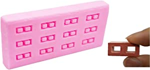 Miniature Brick Mold (1:12 Scale) Cinder Block Silicone Mold for Brick DIY,concrete, plaster,Resin,Fondant,Chocolate,Cards and Clay,Cake Decoration,DIY