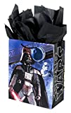 """Hallmark 13"""" Large Star Wars Gift Bag with Tissue Paper (Darth Vader, Stormtrooper, Yoda) for Birthdays, Fathers Day, Holidays and More"""