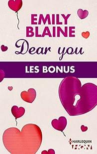 Dear You : les bonus de la série par Emily Blaine